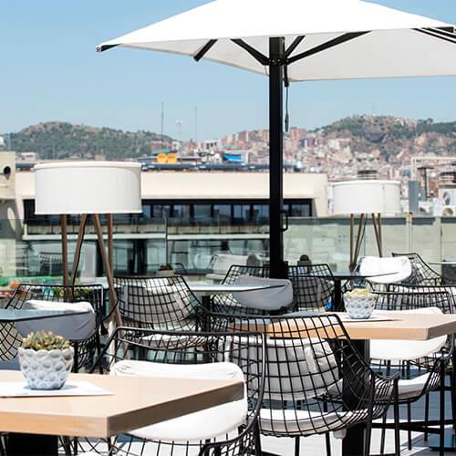 Terrace Hotel Barcelona Hotel Negresco Princess 4